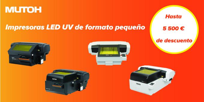 ¡Obtenga unos resultados increíbles con una impresora Mutoh LED UV de sobremesa!