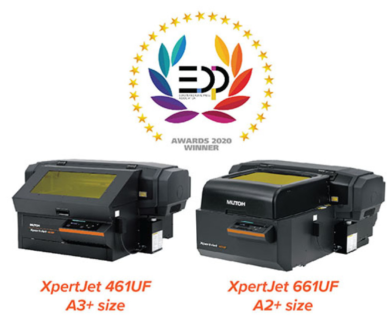EDP récompense les imprimantes d'objets Mutoh XpertJet 461UF/661UF